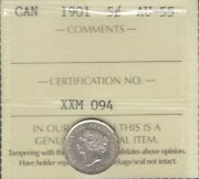 1901 Five Cents Silver Iccs Au-55 Stunning Very High Grade Au-unc Victoria 5andcent