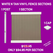White N' Tan Complete Vinyl Fence Sections