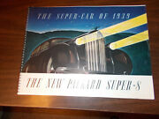 1939 Packard Super 8 Spiral-bound 32-page Deluxe Sales Catalog