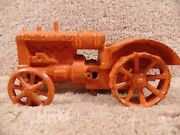 Cast Iron Arcade And Hubley Allis-chalmers Wide Front Tractor With Steel Wheels