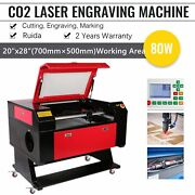 80w 20 X 28 Co2 Laser Engraver And Cutter Machines With Ruida And Efr Laser Tube