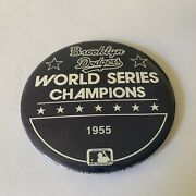 Vintage Brooklyn Dodgers 1955 World Series Champions Pin Back Button 3 Rare