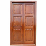 Large Antique Anglo Indian Teak Interior Double Door With Frame 19th Century