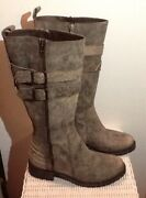 Matisse Antique Distressed Brown Leather Tall Riding Boots Womens 6 M