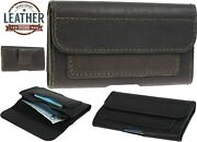 Customized Classic Waist Pouch Made Of Genuine Leather Case Cover 2 Card Pockets