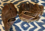 Vintage Wilson A2680 And Rawlings Model H Baseball Gloves