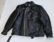 Allstate Leather Motorcycle Jacket Size 64 Full Zipper - Free Shipping