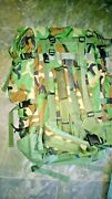 Large Military Field Pack With Internal Frame Woodland Camouflage