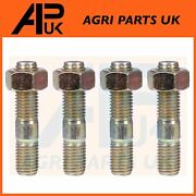 4 X Exhaust Manifold To Head Stud And Nut 5/16 For Massey Ferguson 165 240 Tractor