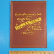 1975 George Wostenholm And Son Sheffield England Catalog First Edition B
