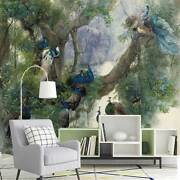 Vintage Peacock Forest Wall Mural Paper Birds Peafowl Wallpaper Art Gift Lsp35