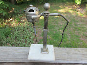 Antique Vintage Art Deco Adjustable Height Soda Fountain Malted Mixer On Marble