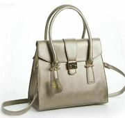 Antique Gold Tote Handbag Pruse By Steve Harvey Celebrity Edition New With Tags