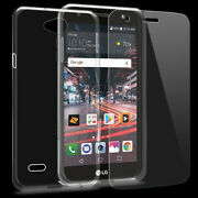 Upgraded Tempered Glass Screen Protector Tpu Case Cover For Lg X Charge M322 Usa