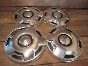 Vintage 1980and039s Set Dog Dish Ford Truck Hubcaps Hot Rod Rat Rod