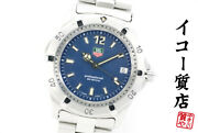 Tag Heuer 2000 Series Professional Wk1113 Menand039s Quartz Ss Blue From Japan [a0825