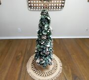 23 Large Natural Holiday Tree Christmas/winter Table Top Or Mantle Centerpiece
