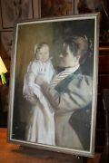 1894 Framed Showing Off Baby Portrait Signed William Thomas Smedley 1858-1920