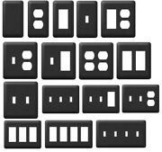 Black Steel Light Wall Switch Plate Toggle Duplex Rocker And Outlet Covers