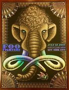 Foo Fighters Concrete And Gold Msg Nyc 7/17 Todd Slater Foil Poster 35/40 Htf