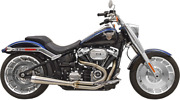 Bassani Road Rage 3 Stainless Megaphone Exhaust 2018+ Fat Boy And Breakout 1s62ss