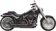 Bassani Pro Street Turn Out Black Exhaust For 2018+ Fat Boy/breakout/fxdr 1s34db