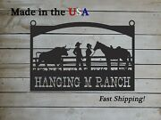 Farm Entrance/gate Sign Western Theme Ranch Theme Personalized Year S1312