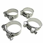 Heavy Duty Stainless Steel Motorcycle Exhaust Banjo Hose Clamp Clip 63-68mmx4