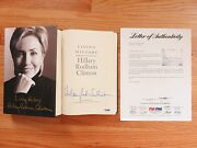 First Lady Hillary Clinton Signed And03903 Living History Hc Book Full Signature Psa