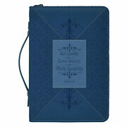 Act Justly Love Mercy Walk Wrap Patch Blue X-large Faux Leather Bible Cover