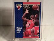 1990-91 Fleer Michael Jordan S-33 Chicago Bulls Tonnys Pizza Free Shipping