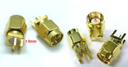 Lot Sma Male Jack Solder Edge Space Pcb Mount Straight Rf Connector Gold Plating
