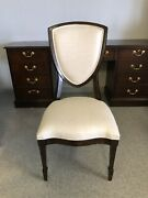 6 Henredon Dean Collection Cooper Side Dining Chairs Set 2300-28-434 Shield Back