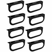 8 Black 6 Inch Oval Brake Light Mounting Brackets For Truck Rvs Campers