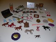 Vintage Collectible Junk Drawer Lot Toy, Pins/buttons, Jewelry Etc... A