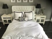 Zgallerie Jameson White Queen Bed + Side Tables+dresser + S And Foster Marybeth