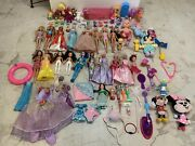 Girls Toy Mixed Lot My Little Pony Barbie Ty Beanie Babies Minnie Mouse 91 Pcs
