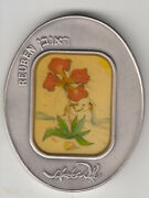 Salvador Dali Tribes Of Israel Reuben 105g Pure Silver Oval State Medal S/n272