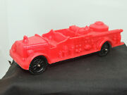 Auburn Red Plastic Fire Truck 2 500 On Back And Front Fender Plate Area 15467