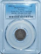 1841 O Pcgs Fs-901 F-102 R.7 Small O Transitional Reverse Liberty Seated Dime