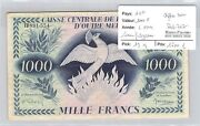 Banknote Aef - 1000 Francs - L1944 - Digits Black - Without Filigree