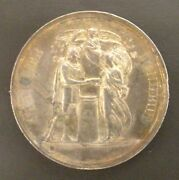 Medal Wedding Silver - N. Mark And V.brissard - 10 February 1844 - Rare
