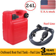 24l Boat Fuel Tank Marine Outboard Fuel Gas Storage Tank And Fuel Line Gas Hose
