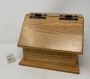 Amish Crafted Oak Recipe Box - Beautiful Golden Oak Stain, New And Nice