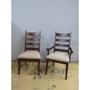 6 Kincaid Homecoming Cherry Patterson Ladderback Farmhouse Dining Chairs Set
