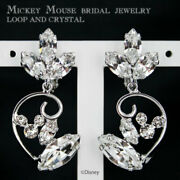Disney Earrings Mickey Mouse Ladies Crystal Wedding From Japan [a0908]