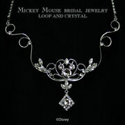 Disney Wedding Necklace Mickey Mouse Ladies Crystal From Japan [a0908]