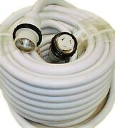 High Tide Marine 50 Amp - 100 Ft White Shore Power Extension Cord 9509w