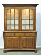 1998 Cherry Shaker Style China Cabinet By Nichols And Stone Mint Condition