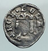 1250 Hungary Medieval Silver Coin Of Bela Iv With Jewish Hebrew Letter I80421